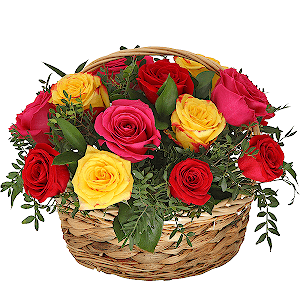 Корзина цветов Фиеста