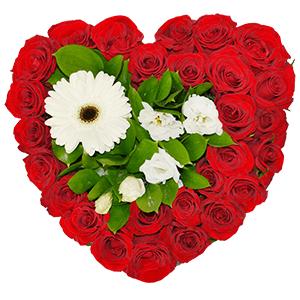 Цветы на 14 февраля - Цветочное сердце
