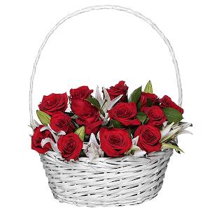 Корзина цветов Драгоценной
