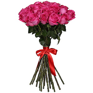 Букет из 37 розовых роз - премиум