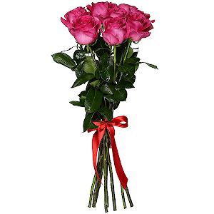 Букет из 9 розовых роз - премиум