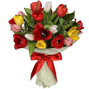 Тюльпаны (21 шт.) с доставкой в Брянске